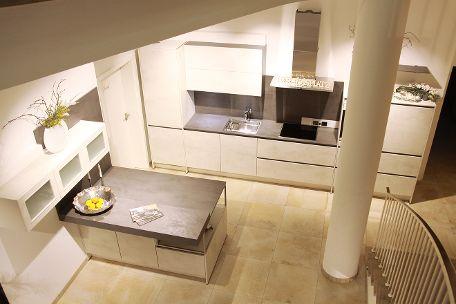 Edle weiße Küche